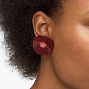 🆕 Kate Spade Burgundy Posh Poppy Stud Earrings